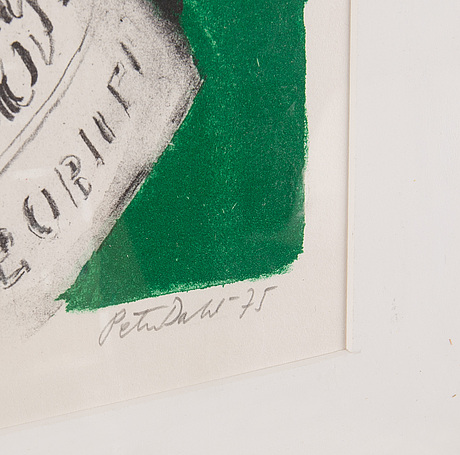 Peter dahl, lithograph in colours, 1975, signed 18/180.