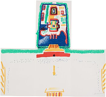 David Hockney, Lithograph in colours, 1982, on wove paper, signed and dated in pencil, numbered 155/1000.