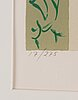 Lennart jirlow, lithograph in colours, signed 17/275.