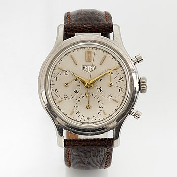 Heuer, chronograph, 36 mm.