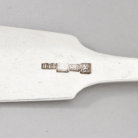 A silver soup ladle, maker's mark of nikolay gurjanov, moscow, russia 1872.