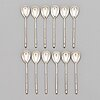 A set of 12 silver teaspoons, maker's mark of vasily m. ashmarin, moscow 1894.