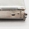 A silver bag, odessa, unknown maker's mark, russia 1908-26.