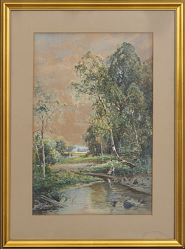 Anna gardell-ericson, water color, signed,