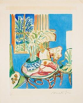 "769. Henri Matisse Efter, ""Petit intérieur bleu""."