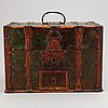 A swedish box with glasses, ca 1800.