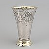 A swedish 19th century parcel-gilt silver beaker, mark of jp molér, (visby) 1820.