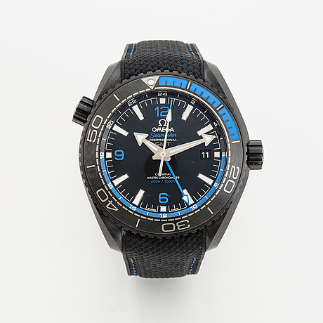 Omega, seamaster planet ocean, co-axial master chronometer gmt, wristwatch, 45.5 mm.