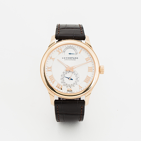 Chopard, l.u.c, quattro, chronometer, wristwatch, 43 mm.