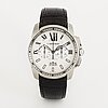 Cartier, calibre de cartier, chronograph, wristwatch, 42 mm.