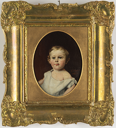 Unknown artist, oil on canvas, signed and dated 1826?.