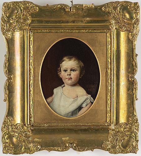 Okänd konstnär, olja på duk, signerad och daterad 1826?.