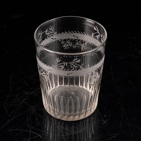Seven late gustavian glasses, ca 1800.