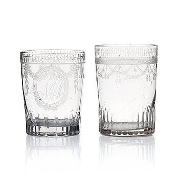 293. Glas, 10 stycken. Sengustavianska, omkring 1800.