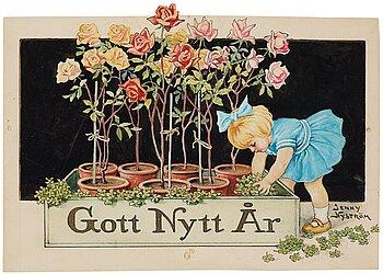 "500. Jenny Nyström, ""Gott Nytt År"" (Happy New Year)."