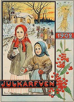 "503. Jenny Nyström, ""Julkärfven 1902"" (Cover illustration for Christmas publication in 1902)."
