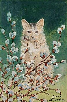 """506. Jenny Nyström, """"Videkatt"""" (Cat in springtime)."""