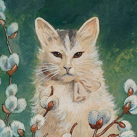 """Jenny nyström, """"videkatt"""" (cat in springtime)."""