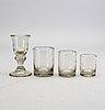 "Servis 46 dlr ""antik"" reijmyre 1900-talets mitt glas."