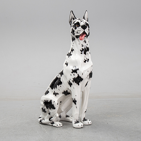 A dog sculpture, italy, late 20th century.