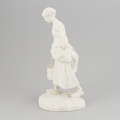 Ruth milles, plaster sculpture. signed and dated 1906. height 36 cm.