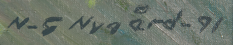 Nils-gustav nygård, olja på duk, signerad och daterad -91.