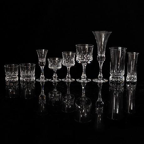 Göran wärff, a part 'prince' glass service, kosta boda (106 pieces).