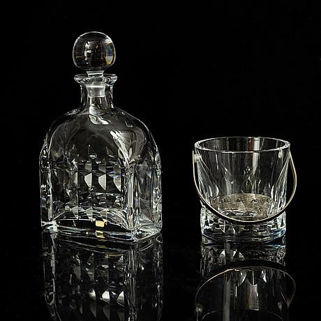 Göran wärff, a part 'prince' glass service, kosta boda (48 pieces).