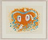 Helga henschen, lithograph in colour, signed and numbered 15/120.