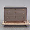 A painted chest of drawers, second half of the 20th century.
