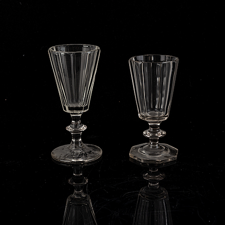 A part glass service, second half of the 20th century (31 pieces).