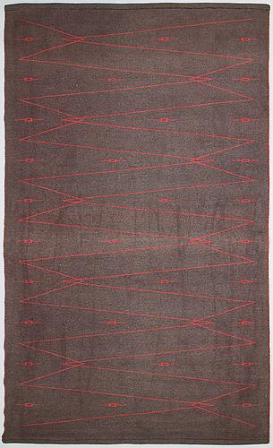 Aappo härkönen, a 1960s flatware rug 'trilli' manufacturer  mattokutomo oy, finland. circa 260x160 cm.