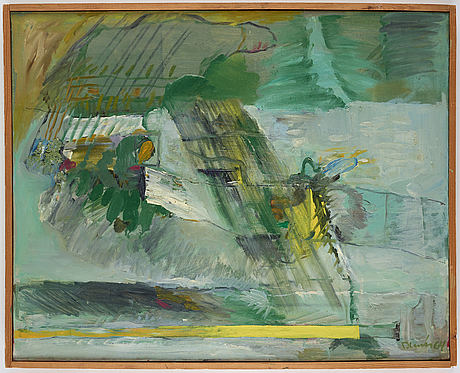 Sten dunér, oil on canvas, signed and dated -64.