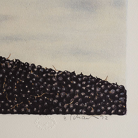Philip von schantz, lithograph. signed and numbered 65/130.