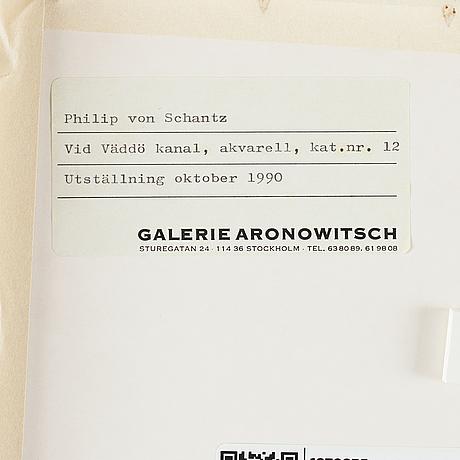 Philip von schantz, watercolor, signed and dated -88.