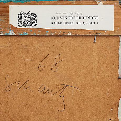 Philip von schantz, mixed media, signed and dated -68.