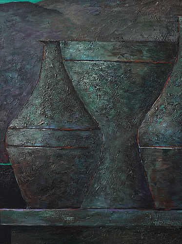 Philip von schantz, oil on canvas, signed pvs and dated -89, on verso dated -88.
