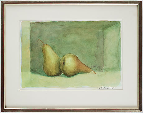 Philip von schantz, watercolor, signed and dated -91.