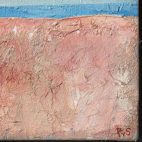 Philip von schantz, mixed media on canvas, signed.