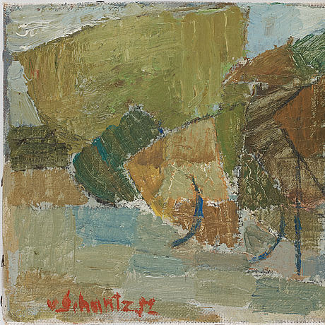 Philip von schantz,oil on canvas, signed and dated -52.