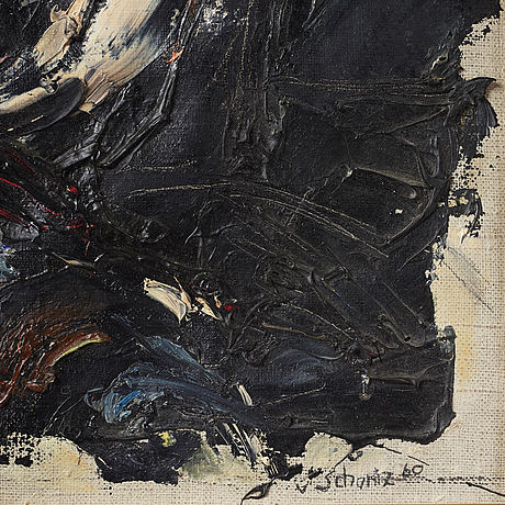 Philip von schantz,oil on canvas laid down on panel, signed and dated -60.