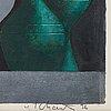Philip von schantz, gouache, signed and dated -96.