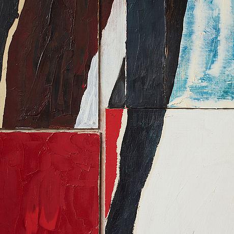 Philip von schantz, oil on panel and assemblage.