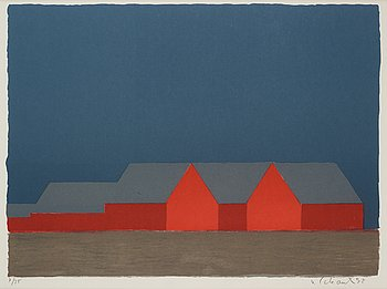 Philip von Schantz, lithograph in color, signed and numbered 7/35, dated -92.