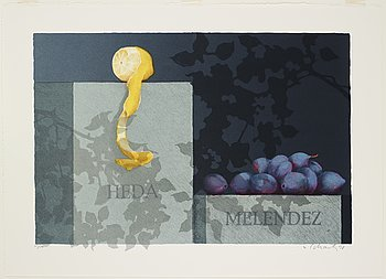 Philip von Schantz, lithograph in color, signed and numbered 63/100, dated -98.