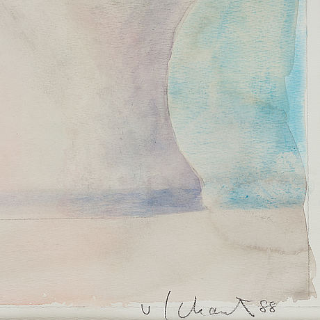 Philip von schantz, water colour. signed and dated -88.