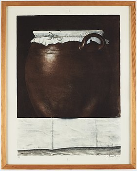 Philip von Schantz, lithograph in colors, signed, trial proof, dated -77.
