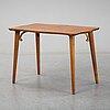A burr birch veneered swedish modern coffee table, 1940's.