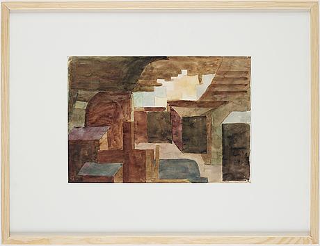Philip von schantz, watercolor, executed 1950, certified verso.