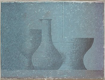 Philip von Schantz, lithograph in color, signed and dated -87, trial proof.